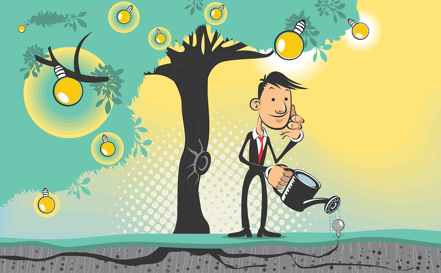 An illustration of idea tree. Useful as icon, illustration and background for business, marketing or sales promo.